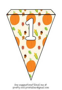 Printable bunting display bulletin letters numbers and more: Thanksgiving