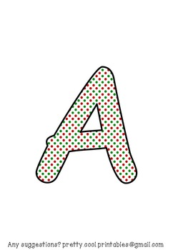 Printable display bulletin letters numbers and more: Christmas Dots