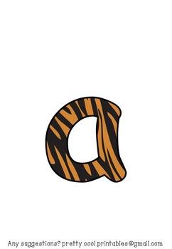 Printable display bulletin letters numbers and more: Animal Print