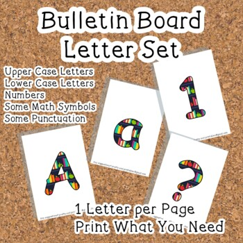 Printable display bulletin letters numbers and more: Books school