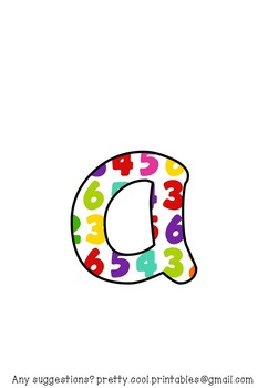 Printable display bulletin letters numbers and more: Math School