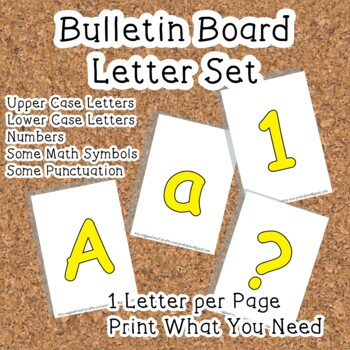 Printable display bulletin letters numbers and more: Solid Yellow