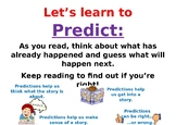 Display poster to help teach children about predicting
