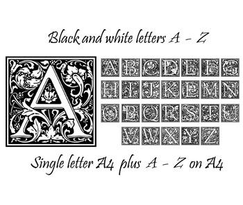 A4 display posters A - Z letters plus handouts - pretty floral design