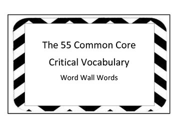 Display the 55 Critical Vocabulary