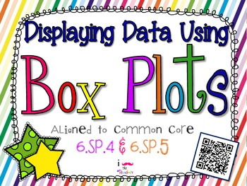 Displaying Data Using Box Plots **QR CODE Task Cards**