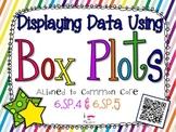 Displaying Data Using Box Plots **QR CODE Task Cards**