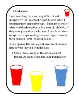 Disposable cup fun and learning too!