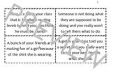 Disrespect Situation Scenario Role Play Cards; Empathy; Drama; WWYouD
