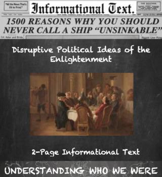 Disruptive Enlightenment Ideas