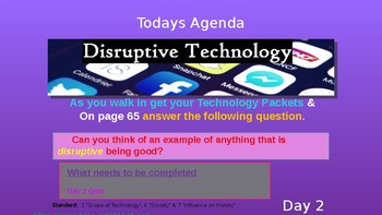 (Day 2) Disruptive Technology