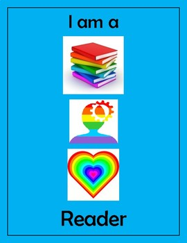 Disrupting Thinking Book, Head, Heart Poster Blue