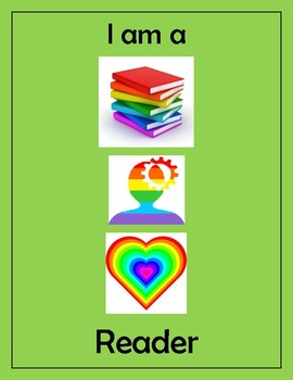 Disrupting Thinking Book, Head, Heart Poster Green