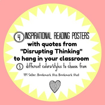 Disrupting Thinking Reading Posters