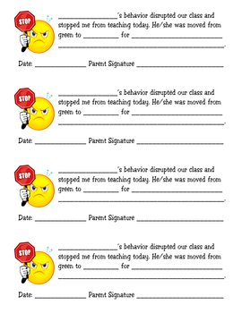 Disrusptive Classroom Behavior Notification