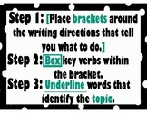Dissecting a Writing Prompt - black and teal