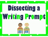 Dissecting a Writing Prompt - lime and navy