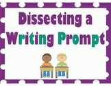 Dissecting a Writing Prompt - purple and teal