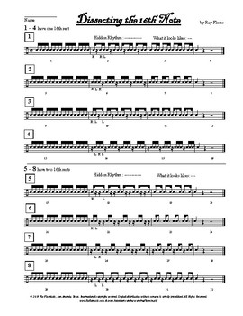 Dissecting the 16th Note Handout