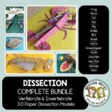 Scienstructable 3D Dissection Models Bundle - Vertebrate &