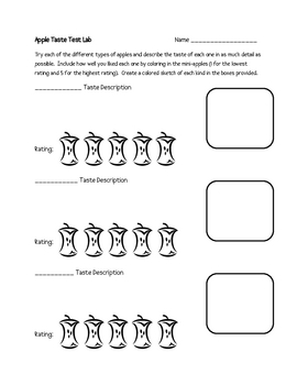 Dissection of an Apple Lab Packet (13 Total Pages, 5 Activities)