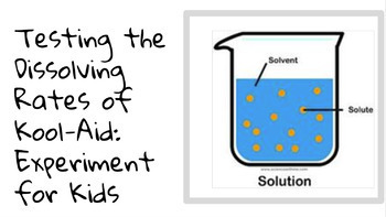 Experiment: Dissolving Rates of Kool-aid in Cold & Hot Water. Solvents/Solute