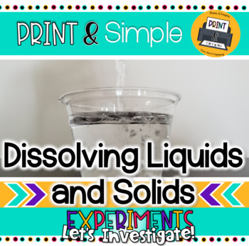 Dissolving Liquids and Solids in Water