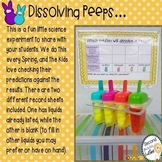Dissolving PEEPS Science, Alliterations, & Bunny Craftivity too
