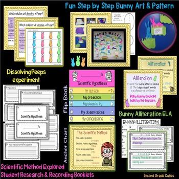 Dissolving PEEPS Science, Alliterations, & Bunny Craftivity too