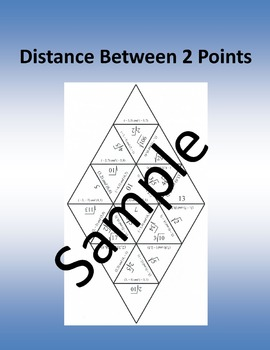Distance Between 2 Points – Math puzzle