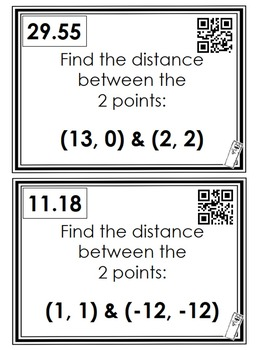 Distance Between 2 Points: Scavenger Hunt