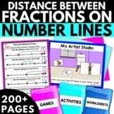 Distance Between Fractions on Number Lines - Fraction Activities