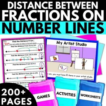 Distance Between Fractions on Number Lines