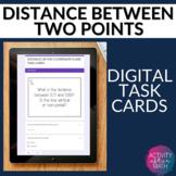 Distance Between Two Points Coordinate Plane Digital Task