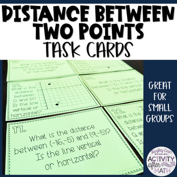 Distance Between Two Points Coordinate Plane Task Cards
