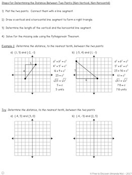 Distance Between Two Points Notes and Practice (Differentiated)