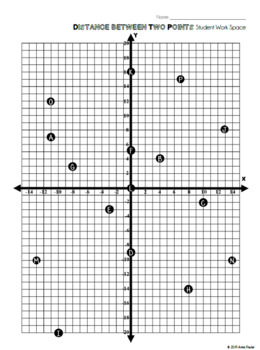 Distance Between Two Points MAZE Activity