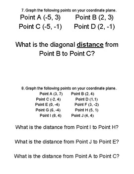 Distance Between Two Points - Pythagorean Theorem