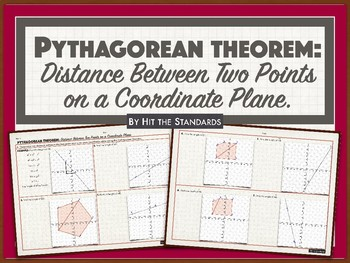 Pythagorean theorem: Distance Between Two Points on a Coordinate Plane.