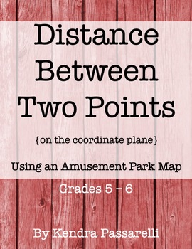 Distance Between Two Points {Using an Amusement Park Map}