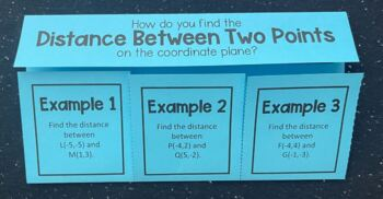 Distance Between Two Points on the Coordinate Plane (Foldable)