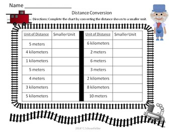 Distance Conversion Train ~ Domino Game Assessment