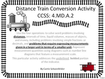 Distance Conversion Train ~ Domino Game Assessment CCSS 4.MD.A.2