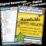 Distance/Digital Learning: Phonics-Based Decodable Reading
