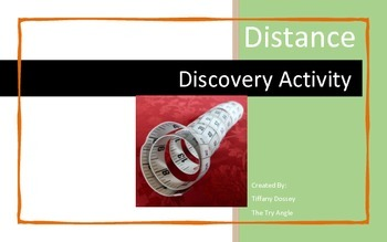 Distance Discovery Activity (5x8 Notecards)