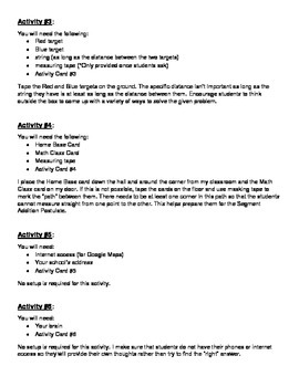 Distance Discovery Activity (Half Page Cards)