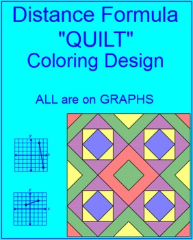 DISTANCE FORMULA OR PYTHAGOREAN THEOREM:  COLORING ACTIVITY - ALL GRAPHS