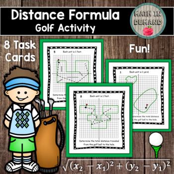 Distance Formula Activity (Task Cards)