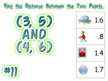Distance Formula Activity: Scavenger Hunt