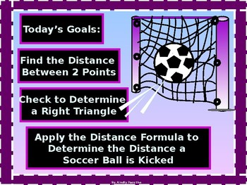 Algebra Power-point: Distance Formula with GUIDED NOTES